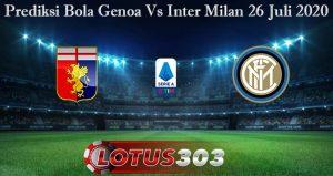 Prediksi Bola Genoa Vs Inter Milan 26 Juli 2020