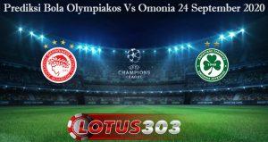 Prediksi Bola Olympiakos Vs Omonia 24 September 2020