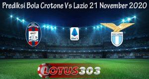 Prediksi Bola Crotone Vs Lazio 21 November 2020