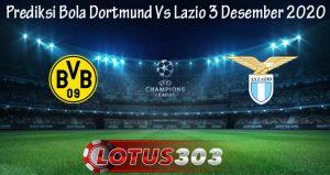 Prediksi Bola Dortmund Vs Lazio 3 Desember 2020