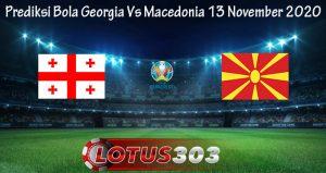 Prediksi Bola Georgia Vs Macedonia 13 November 2020