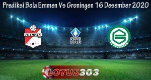 Prediksi Bola Emmen Vs Groningen 16 Desember 2020