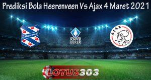 Prediksi Bola Heerenveen Vs Ajax 4 Maret 2021